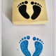 Lovely Wooden Rubber Toy Stamps