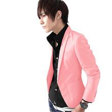 Hot sellingNEW Fashion Men's Slim Fit Stylish Casual One Button Suit Coat Jacket Blazer