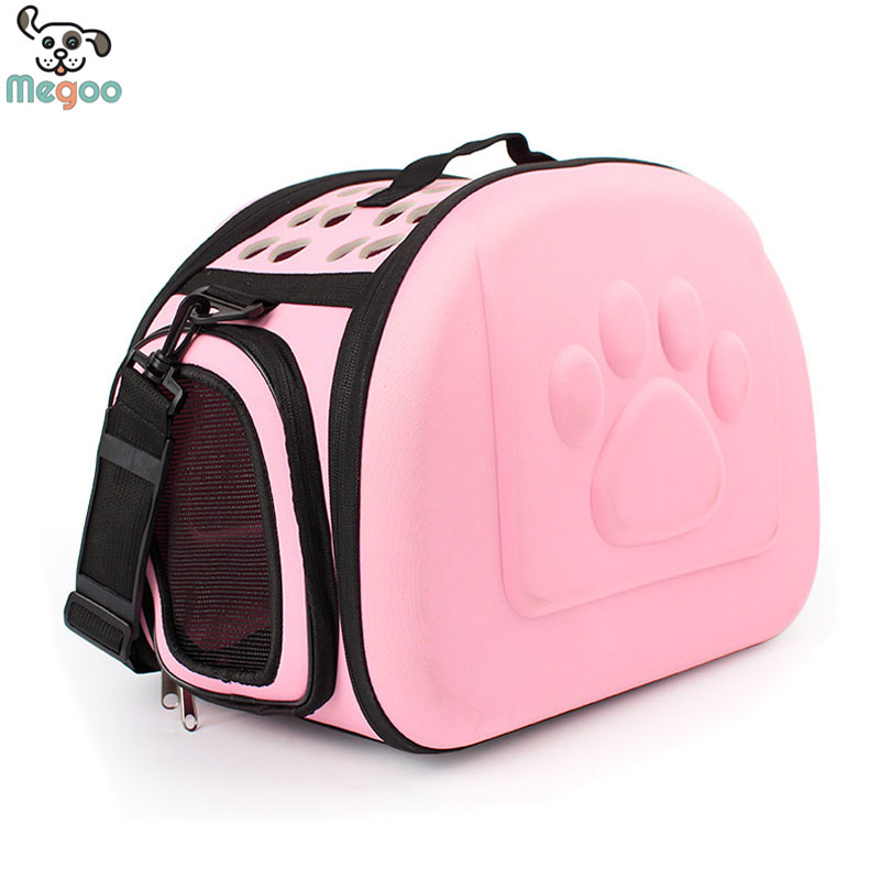 EVA Paw Print Puppy Pet Carry Bags Collapsible Outdoor Travel Carrier For Puppy Cats