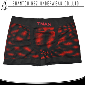 Factory wholesale low price high quality polyester spandex mature men in transparent boxer fancy boxers
