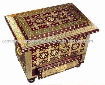 Chest Bo Antique Wood Box Craft