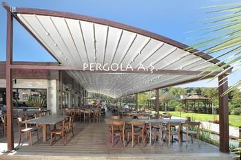 Aluminium folding motorized pergola awnings buy aluminum for Pergola alu toile retractable