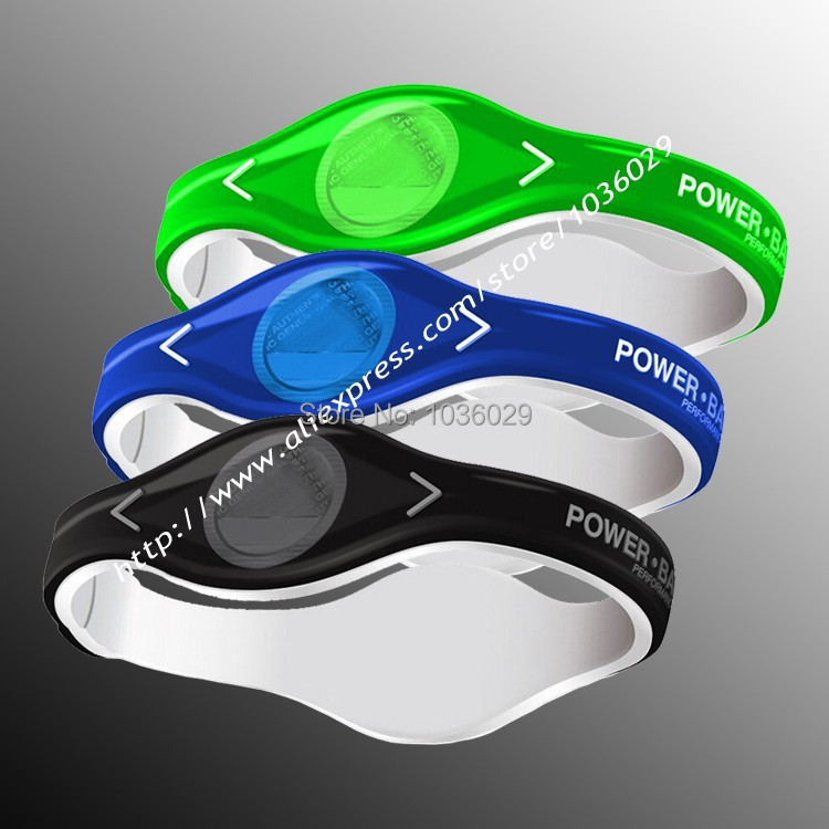 Электропитание энергии браслеты с голограммой браслеты держите баланс ион магнитный терапия силикон группы