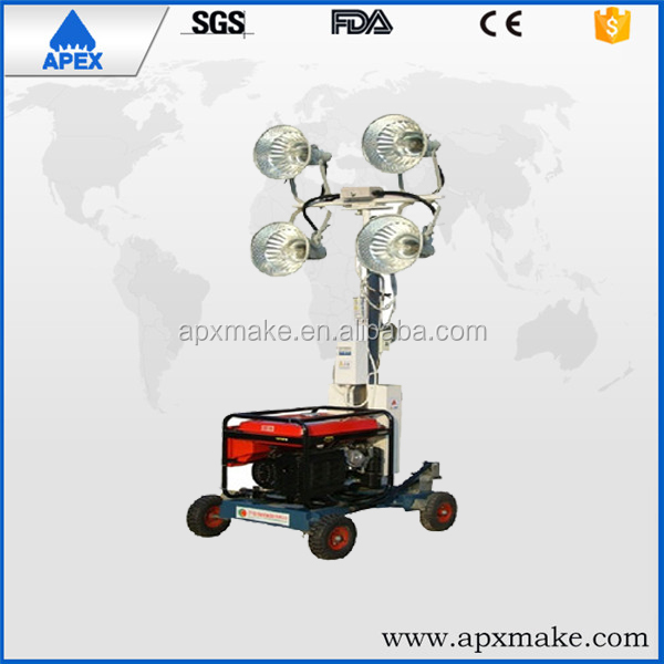 Construction site adjustable height light Tower , Tower light for construction