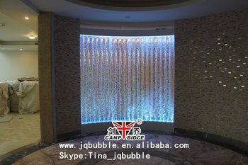 Acrylic bar cafe design small water feature bubble indoor water ...