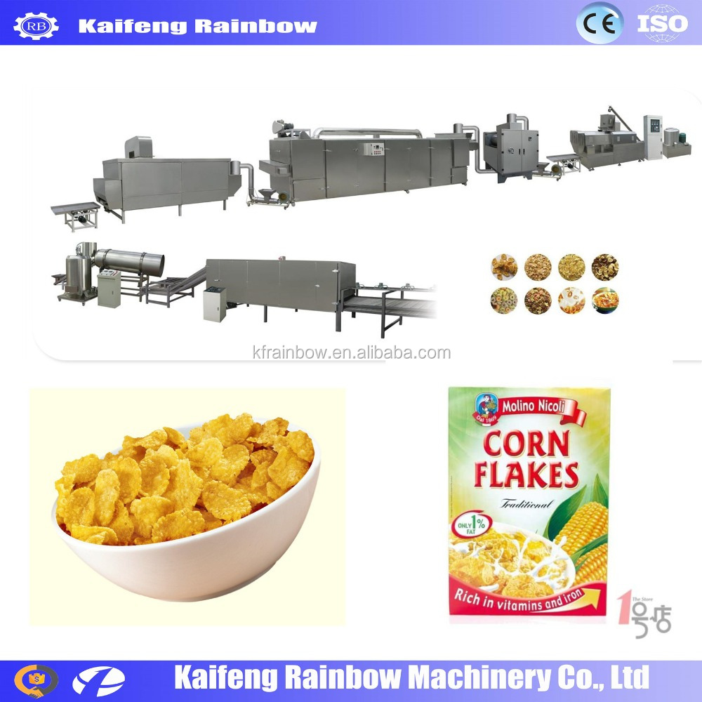 CE approved Professional Breakfast Ceral Maker Machine corn flakes baby ceral infante cereal making machines