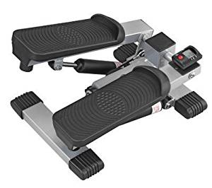 Mini Stepper Exercisier - Ideal for toning the waist, calves, hips and thighs while burning calories. * Compact design is great for the home, office or travel * Features a unique adjustable resistance system for low impact exercise * Dual-hydraulic cylinders work independently, replicating stair