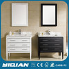 Black free standing amercian popular design cheap bathroom vanity cheap wooden cabinet