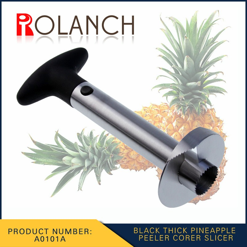 Stainless Steel Pineapple Corer | Slicer and Cutter | Non Slip Detachable Handle, Sharp Blades, Easy To Use Core Remover Tool