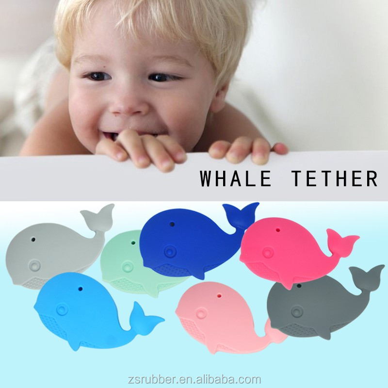 Baby Silicone Teether Custom Whale Wholesale Silicone Nuby Teething Ring