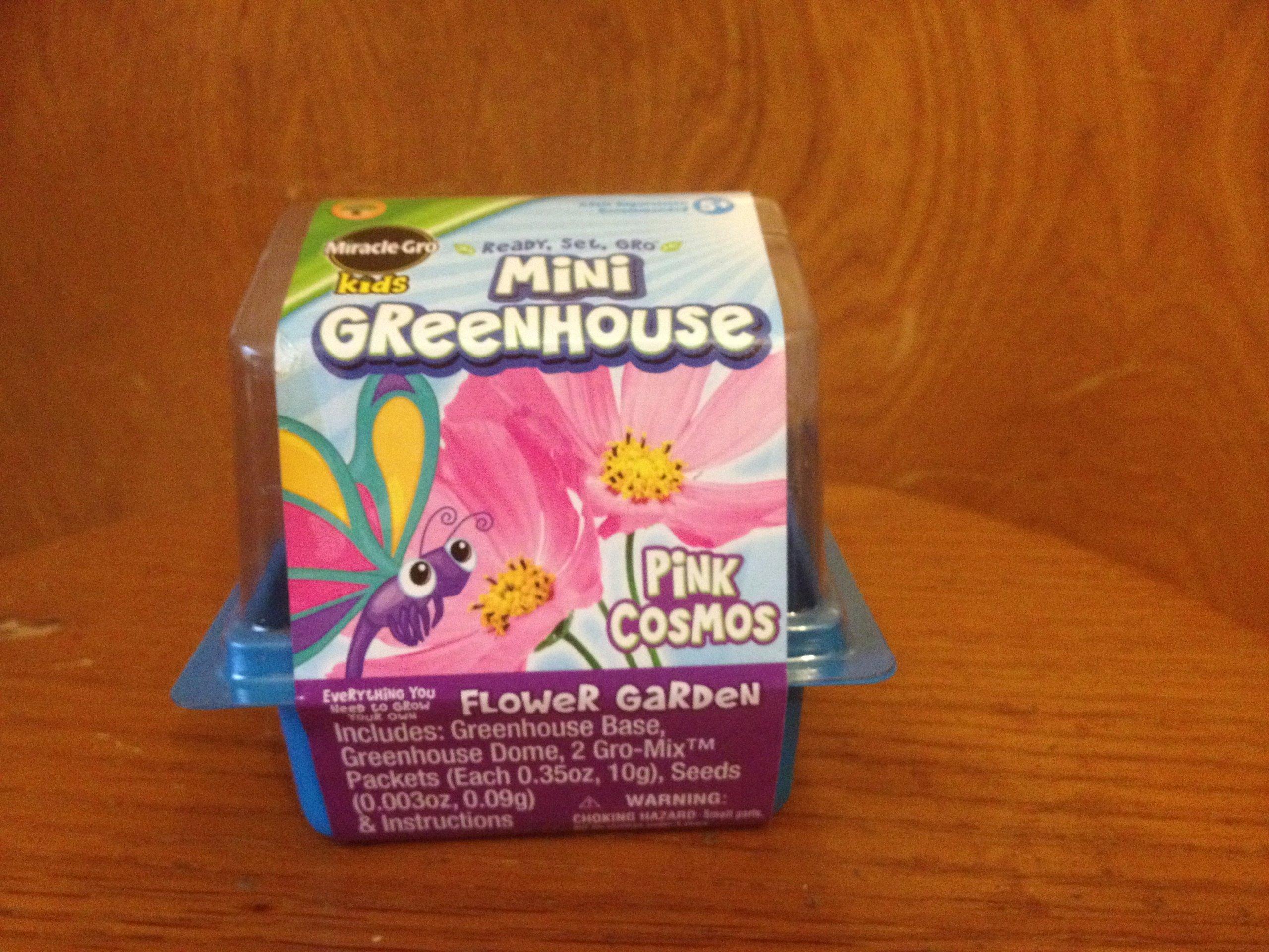 Miracle Gro Kids Mini Greenhouse Pink Cosmos