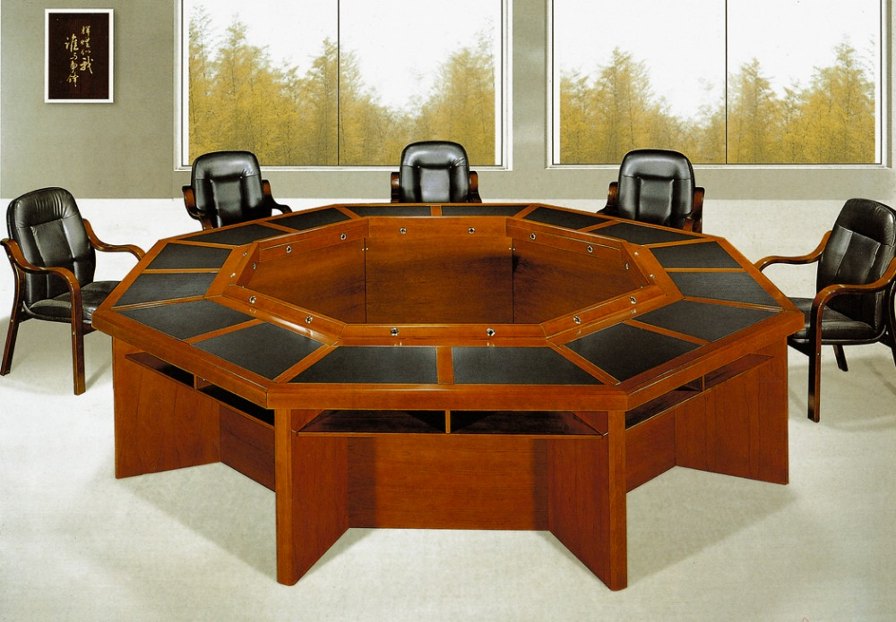 Prix de mobilier de bureau de luxe classique en bois salle de