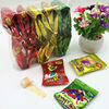 colorful fruity soft jelly roll candy with funny tatoo