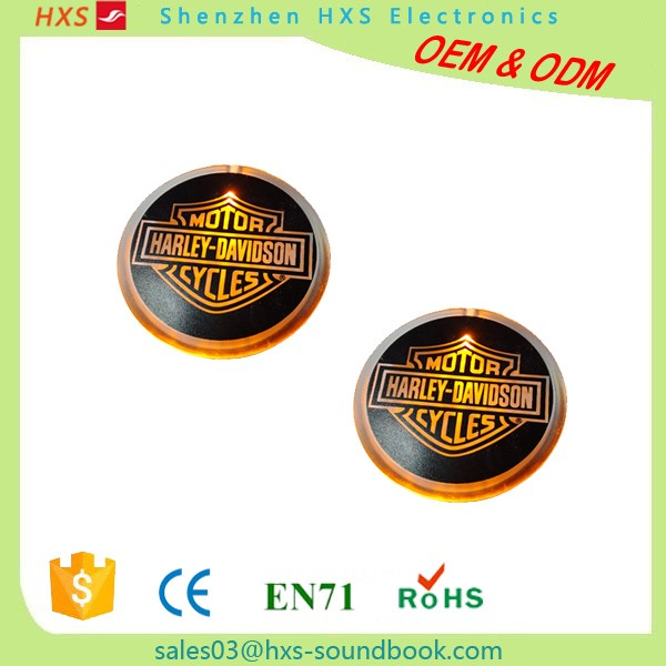High Quality Electronic Children Lighting Badge Motor Cycle