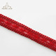Red Color Elegant Lace Trim Gimp Lace Mesh Trim For Garment