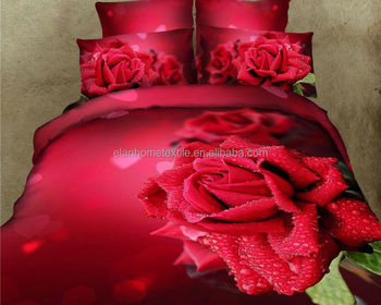 Sexy red bedding