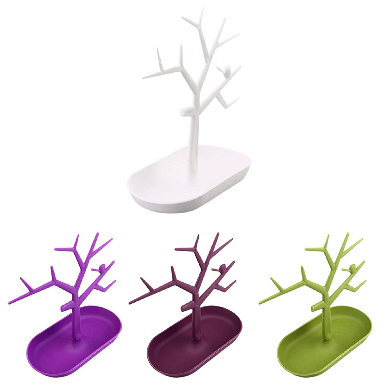 Multifunctional Tree Branch Shape White color Jewelry Display Earring Bracelet Necklace Ring Display stand for earrings hot sale by LS