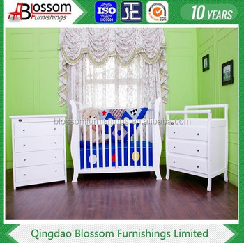 NEW 3 IN 1 BABY SLEIGH COT + CHANGE TABLE + CHEST OF DRAWERS + MATTRESS  sc 1 st  Alibaba & New 3 In 1 Baby Sleigh Cot + Change Table + Chest Of Drawers + ...