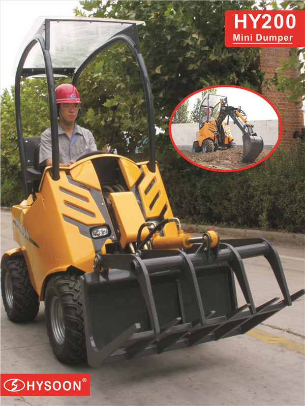 Manufacturer Wheeled Mini Loader petrol lawnmower for sale