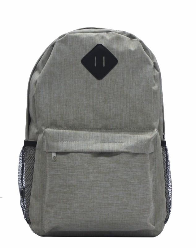 mochila escolar en dos tonos