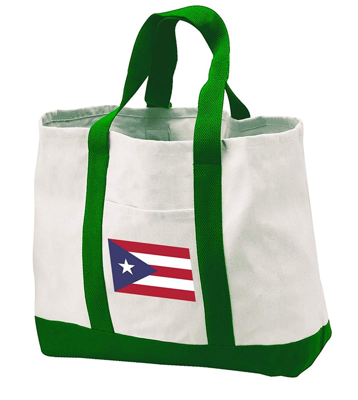 Puerto Rico Flag Tote Bag CANVAS Puerto Rico Flag Totes Travel Beach Pool Shoppi