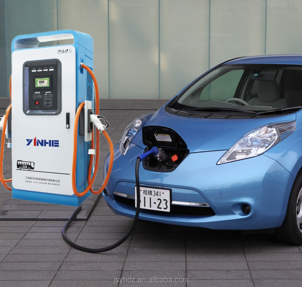 YINHE EV dual-standard DC rapid charge station with CHAdeMO and IEC CCS combo-2 plug