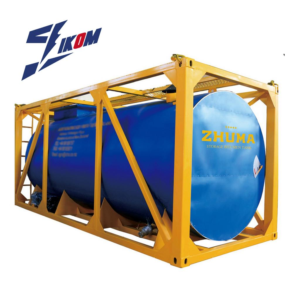 20 voet- 20000l asfalt/transport bitumen tankcontainer