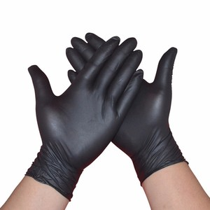 Medical Grade Black nitrile gloves wholesale cheap top disposable gloves