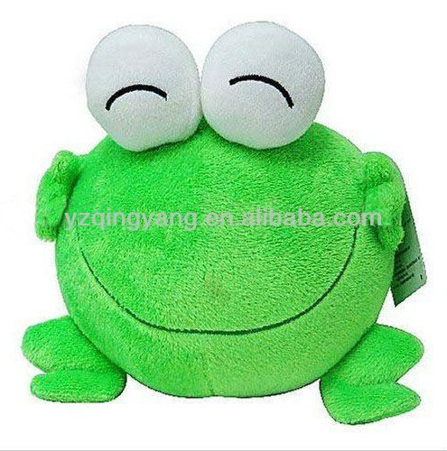 frog plush toys with open mouth and big eyes