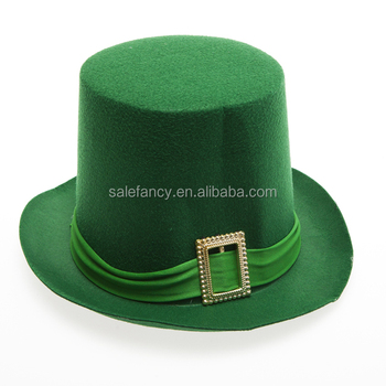 Irish St Patricks Day Hat Fancy Dress Jester Top Hat Ginger Beard Leprechaun  QHAT-2402 8fa8c47951a