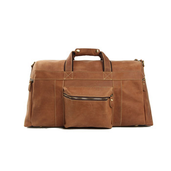 """d1a928c821e Retro bruin mannen 22"""" grote laptop tas vintage lederen bagage tas' s  nachts zakken"""