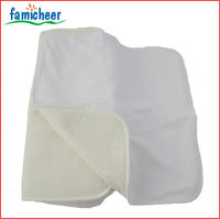 Famicheer Adjustable Waterproof Bamboo Baby Cloth Diaper Liners,Inserts,Soakers with Snaps
