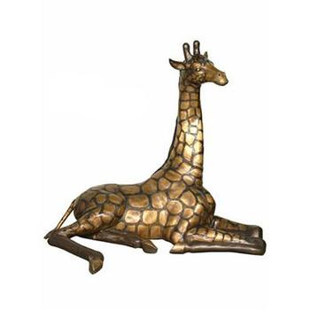 Outdoor Use Metal Giraffe Sculpture For Garden Decoration