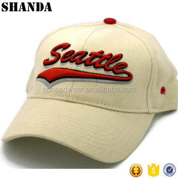 Cotton fitted 3D letter Embroidery cheap custom baseball hat no minimum 877e52fd32b