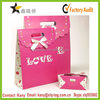 Average Price Of Wedding Gift 2015 : 2015 factory price custom printed wedding gift paper bag with bow tie ...