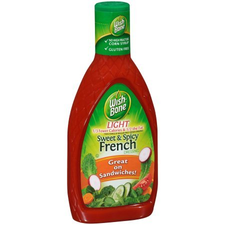 Wish-Bone Light Sweet & Spicy French Dressing 15 fl. oz. Squeeze Bottle, Pack of 6