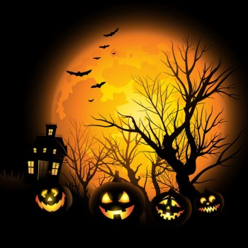 halloween theme lighting canvas painting flickering light canvas