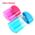 Plastic Double hole Pencil sharpener with Pencil shavings case for students School Supplies Colored translucent sharpener
