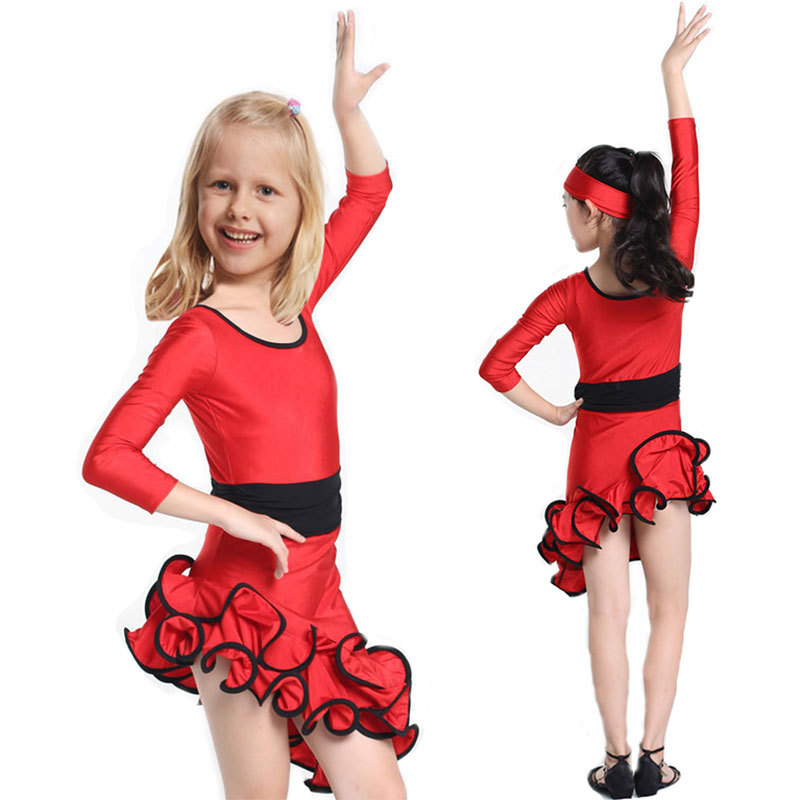 Get Quotations · Latin Dance Dress For Girls Samba Dress Ballroom Dancing  Dress Girl Dancewear Dance Costume Ballet Vestido d3ef4a03a904
