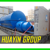 5T capacity per day waste tyre pyrolysis recycling plant to fuel oil machine