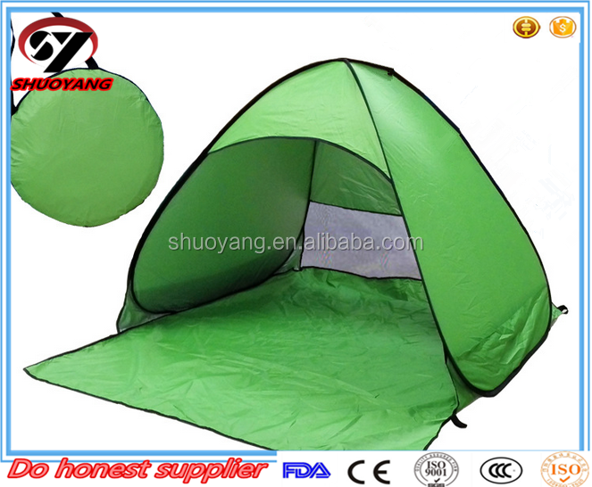 Shuoyang 2016 new design waterproof folding two person use camping tent for hiking