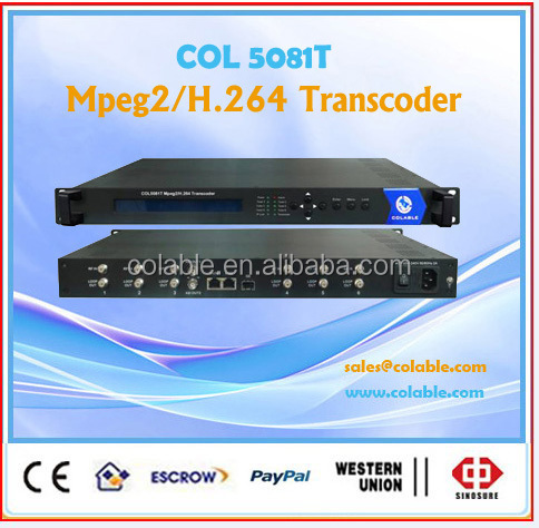 6Tuner <strong>DVB</strong>-S2 mux Mpeg4 to mpeg2 IP transcoder COL5081T