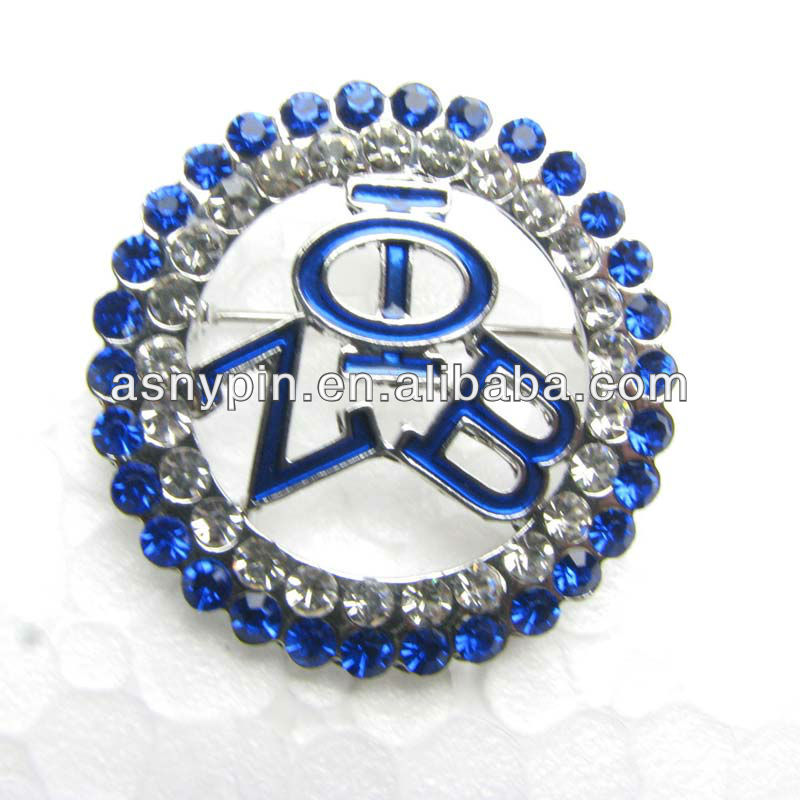 Zeta Phi Beta sparkly brooch pin, stone lapel pin 160
