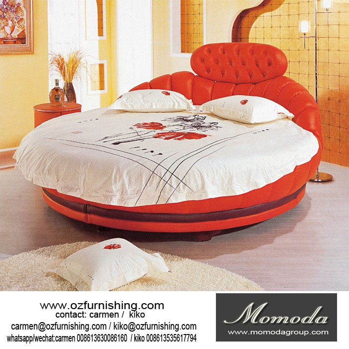 300a momoda chinese latest double bed design king size for Round double bed design