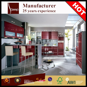 Ak1597 Italy Ica Piano Paint High Gloss Red Lacquer Kitchen ...