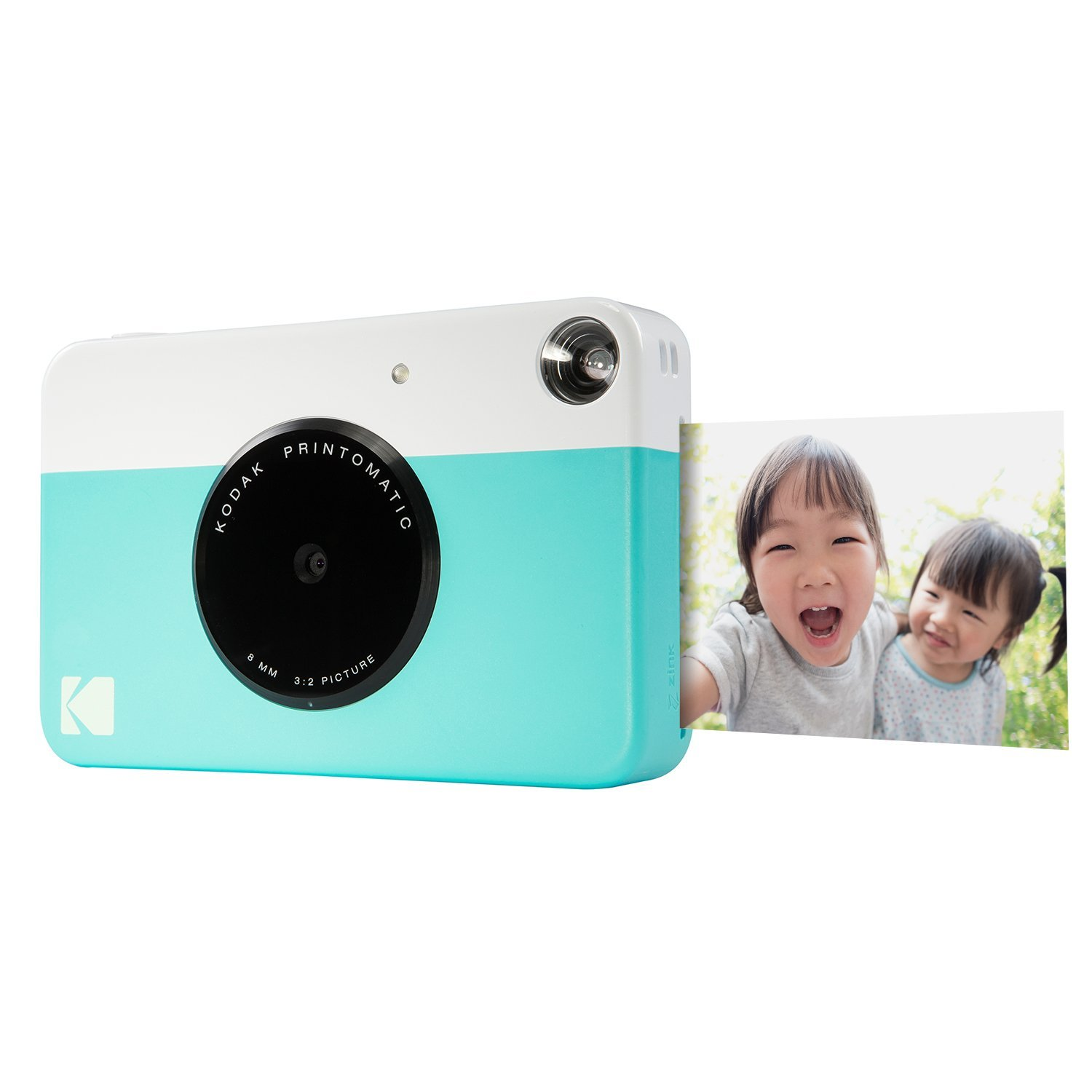 "Kodak PRINTOMATIC Digital Instant Print Camera (Blue), Full Color Prints On ZINK 2x3"" Sticky-Backed Photo Paper - Print Memories Instantly"
