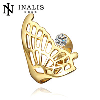 Fashion butterfly ornament beautiful yellow gold friendship rings R365