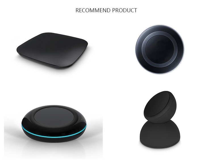 10W 7.5W wireless fast charger base, Qi certified wireless charger