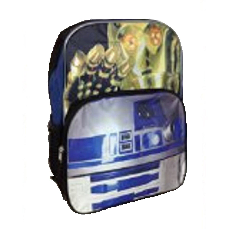 "Star Wars Droids Robots Boy's 16"" School Backpack R2D2 C3PO Large Bag"