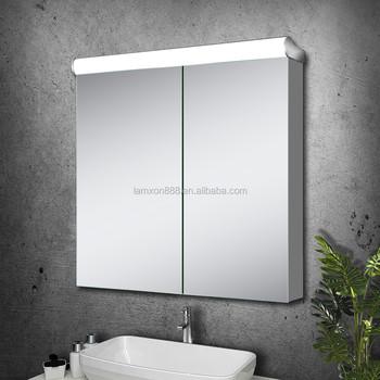 moderne stijl badkamer led verlichting vanity spiegelkast met anti condens